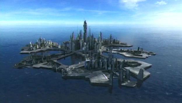 Atlantis 1ère chute dans ATLANTES Stargate-Atlantis